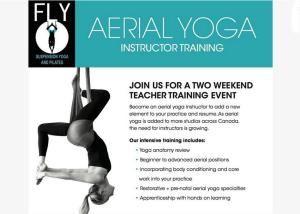 Fly Aerial Yoga Instructor Training At Toronto Canada Aerial Yoga Yoga Teacher Training Yoga Teacher