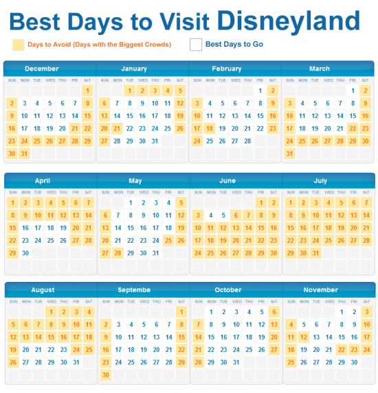 Best days to visit Disneyland   Disneyland vacation, Disney vacations, Disneyland trip