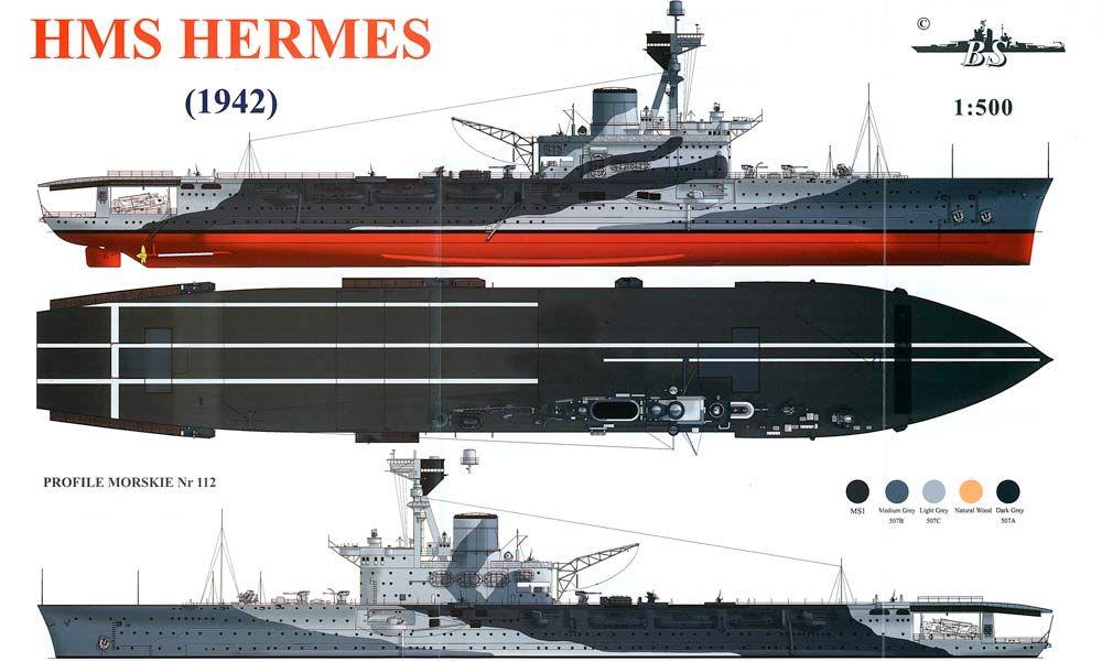 HMS Hermes, 1942 | HMS Aircraft Carriers #4 | Kriegsschiffe