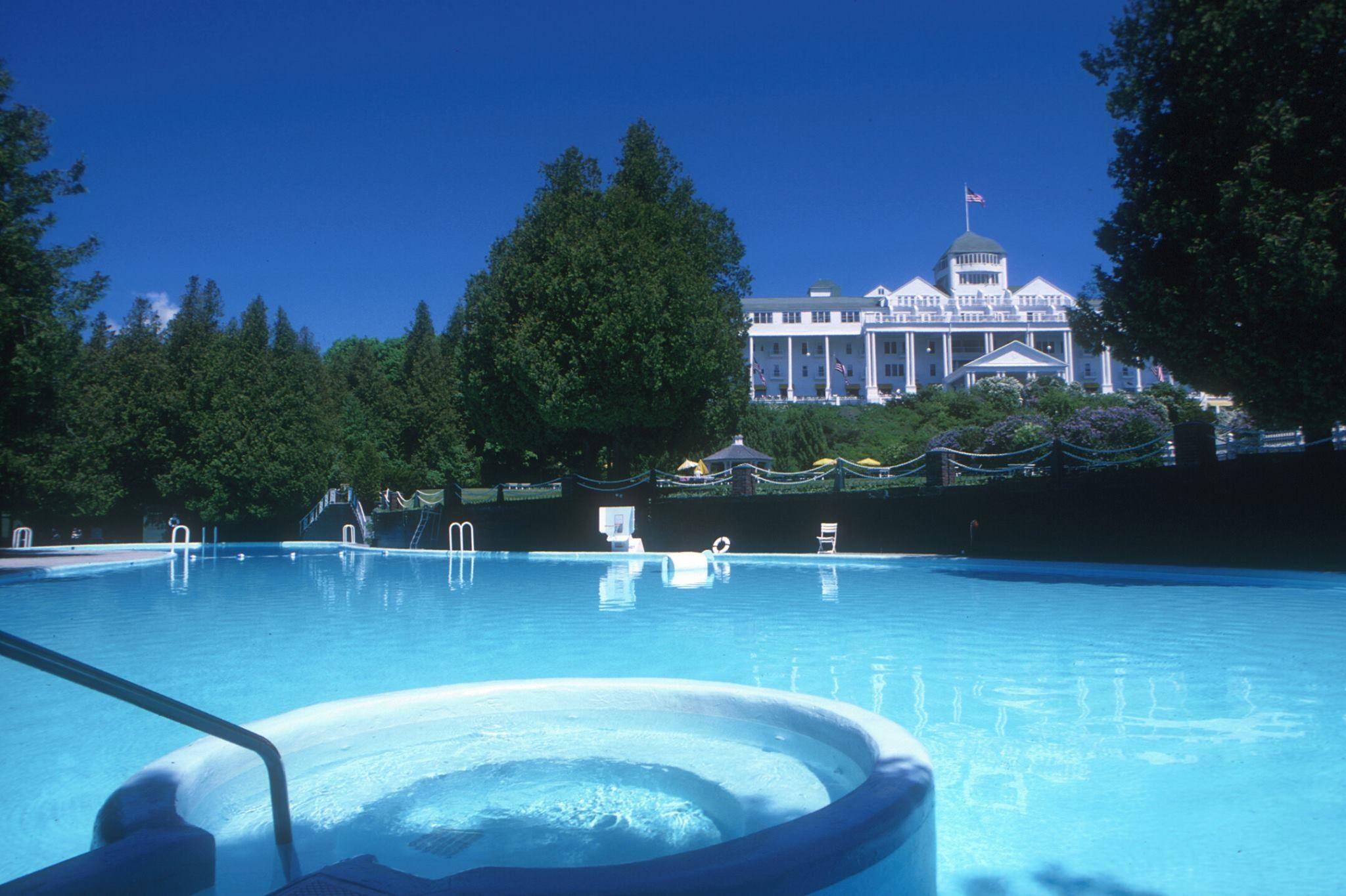 Grand Hotels Ester William Swimming Pool Mackinac Island Mackinac Island Mackinaw City Grand Hotel