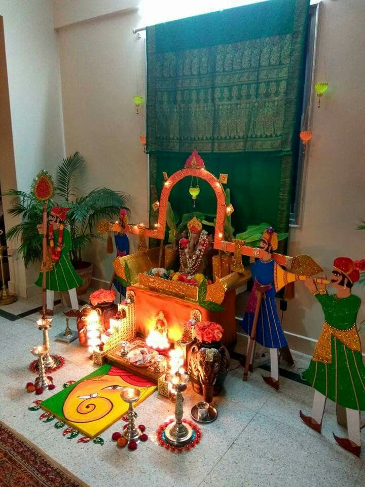 Ganapati Decorations Janmashtami Decoration Ganapati Decoration