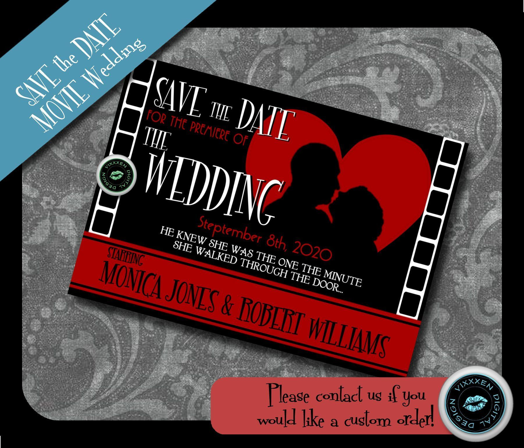 Wedding Save the date romantic film wedding couple Movie poster ...