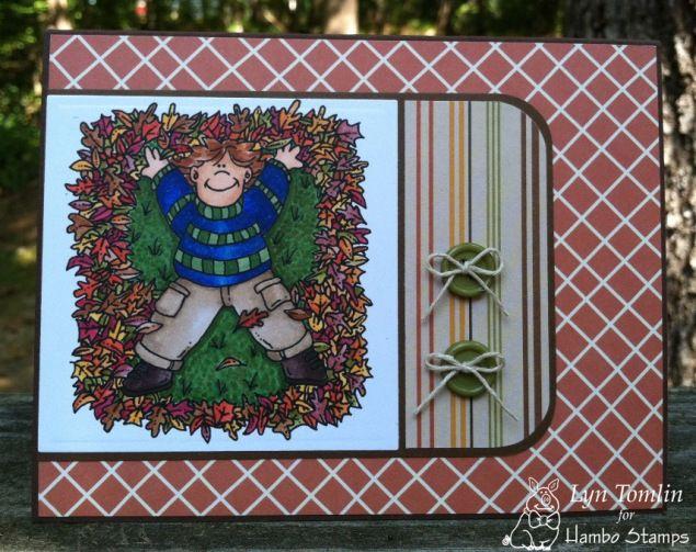 Leaf Angels digi stamp by Hambo - designed by Lyn Tomlin