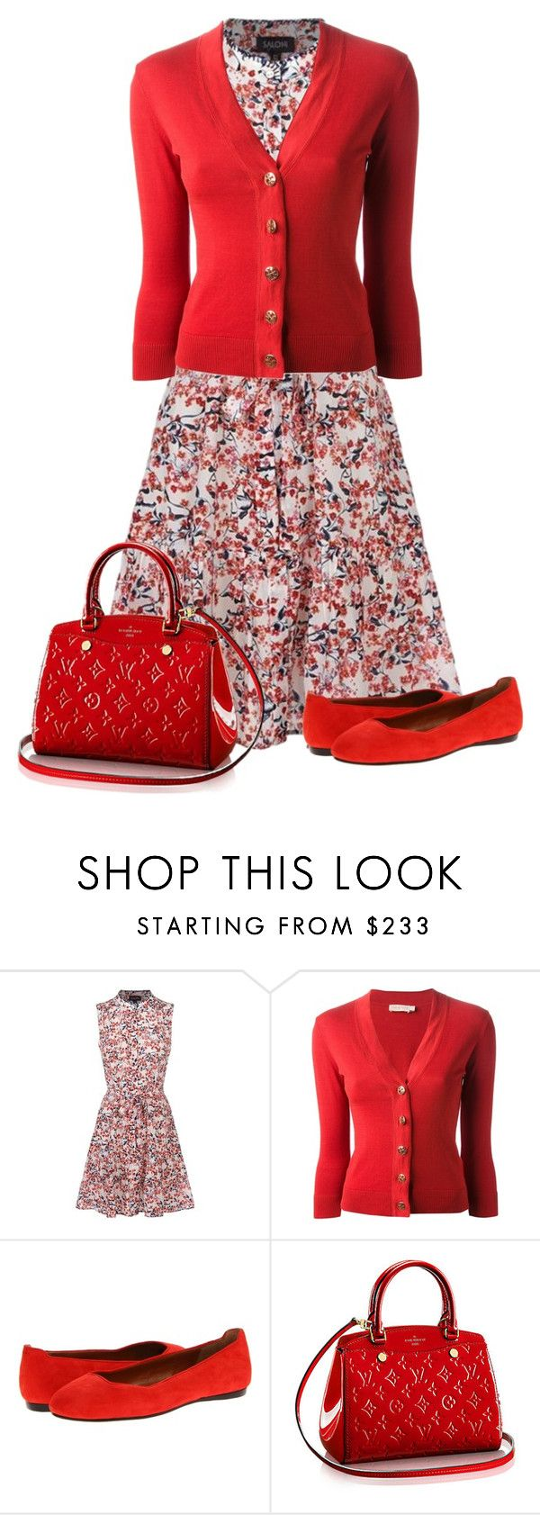 """6-24-16"" by nellegrau ❤ liked on Polyvore featuring Saloni, Tory Burch and Calvin Klein Collection"
