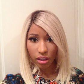 Nicki Minaj With A Blonde Bob Blonde Bobs Dark Roots Blonde