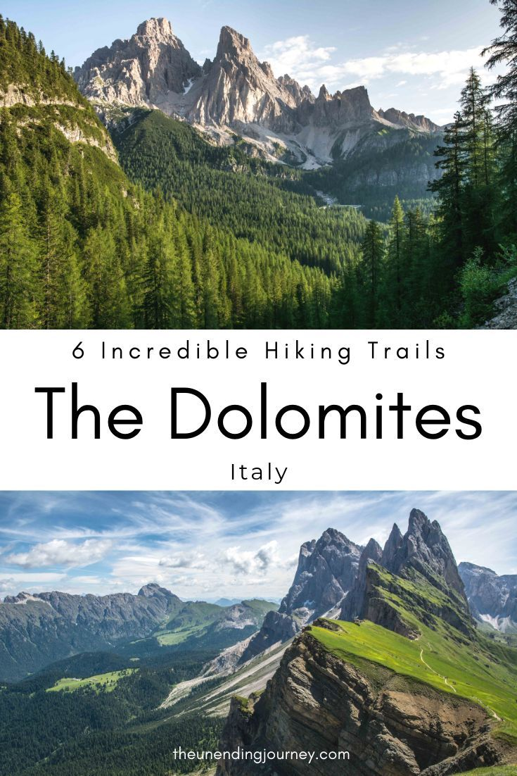 Six Incredible Trails for Hiking in the Dolomites - The Unending Journey