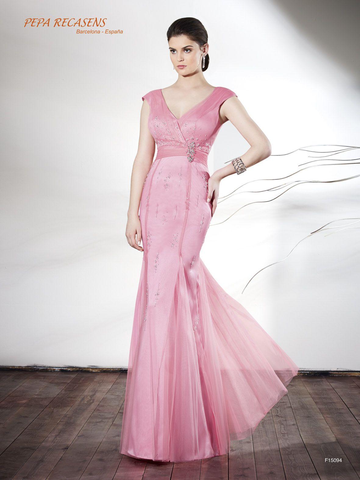 Vestido de fiesta Pepa Recasens modelo F15094 | talentos | Pinterest
