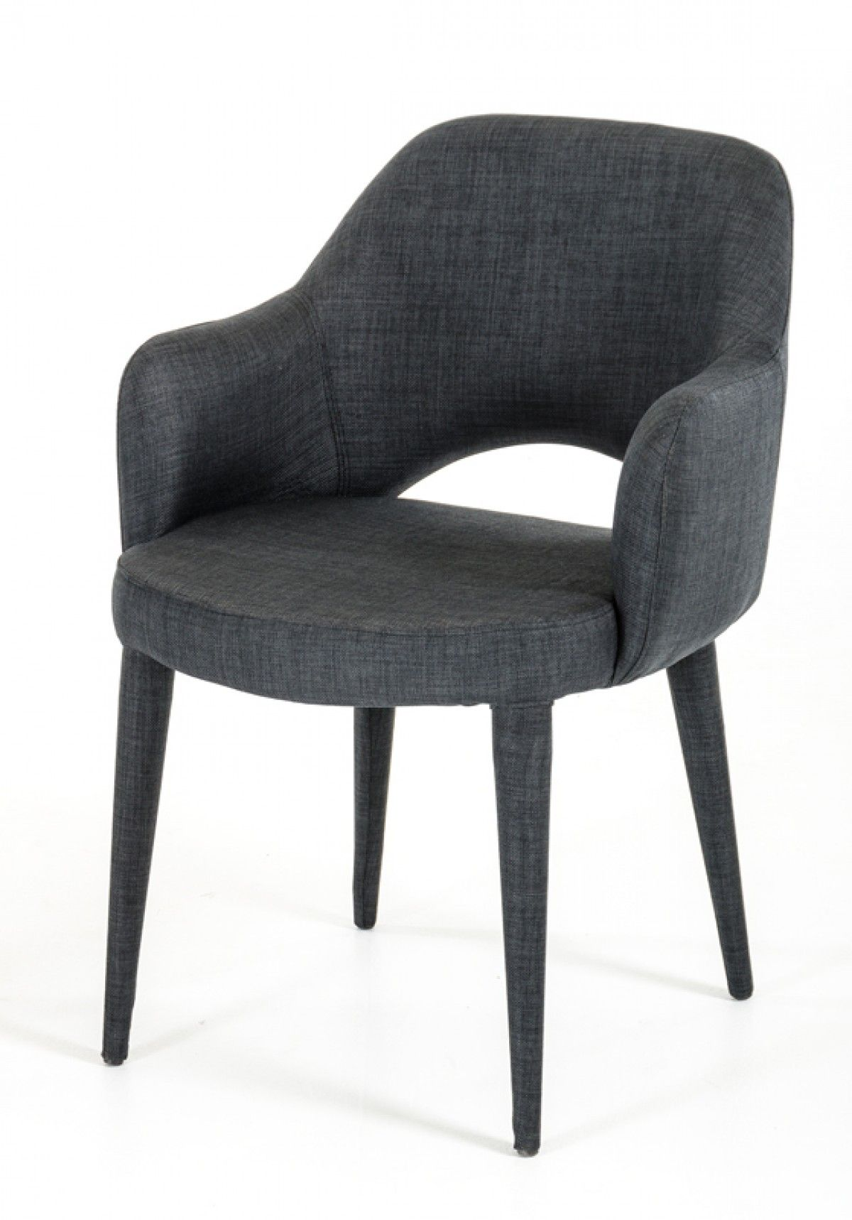 Modrest Williamette Modern Dark Grey Fabric Dining Chair Sletten  # Muebles Leaders Tarragona