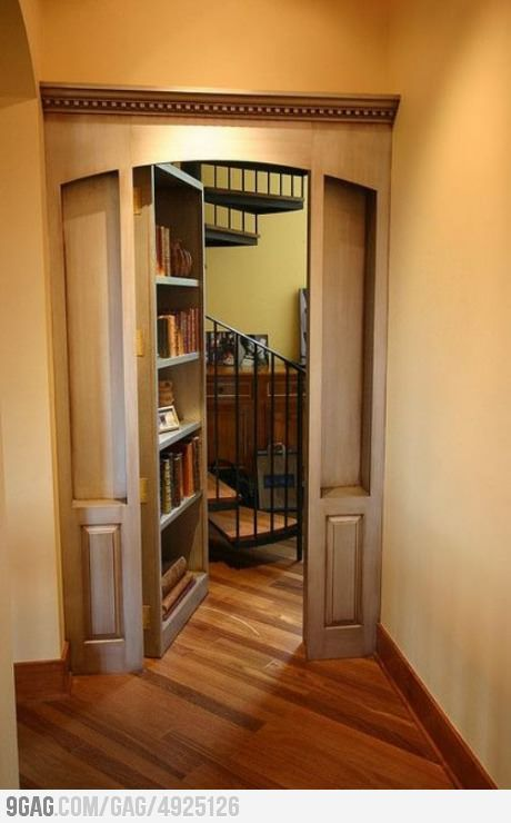 Secret Door Want So Bad Dream House Pinterest Hidden
