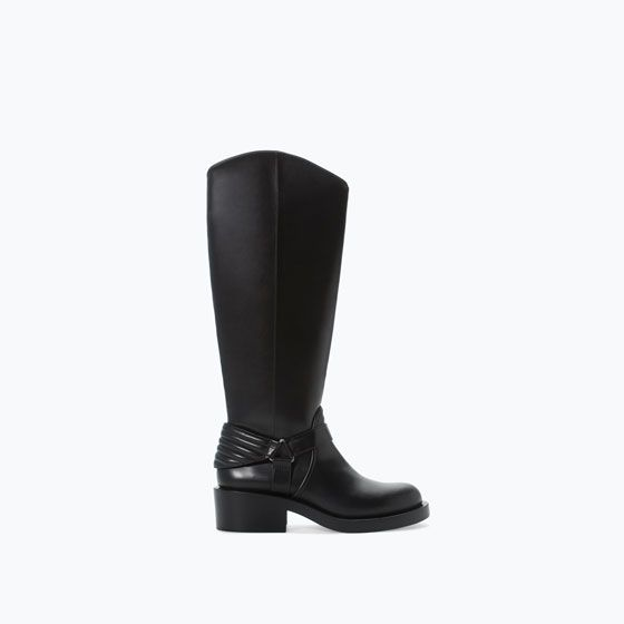 ZARA - SPECIAL PRICES - QUILTED HIGH-HEEL BOOT