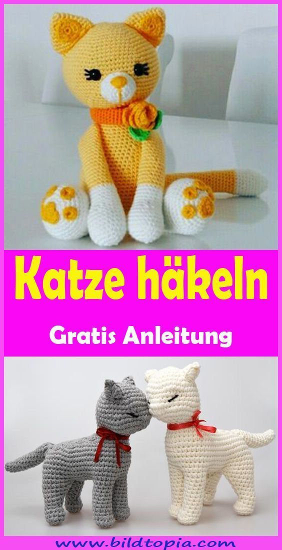 Photo of Amigurumi Katze häkeln – kostenlose & einfache Anleitung – Wellecraft – Knithat