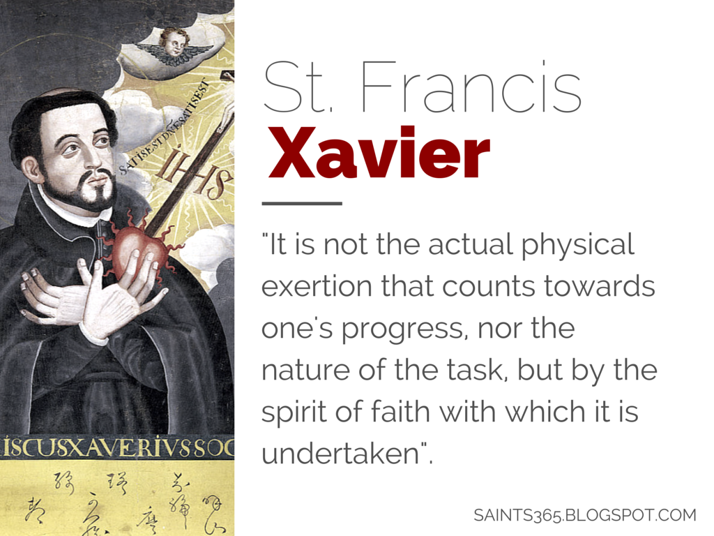 Five Favorites Vol 7 Quotes From St Francis Xavier Saint Quotes Catholic Holy Quotes Francis Xavier