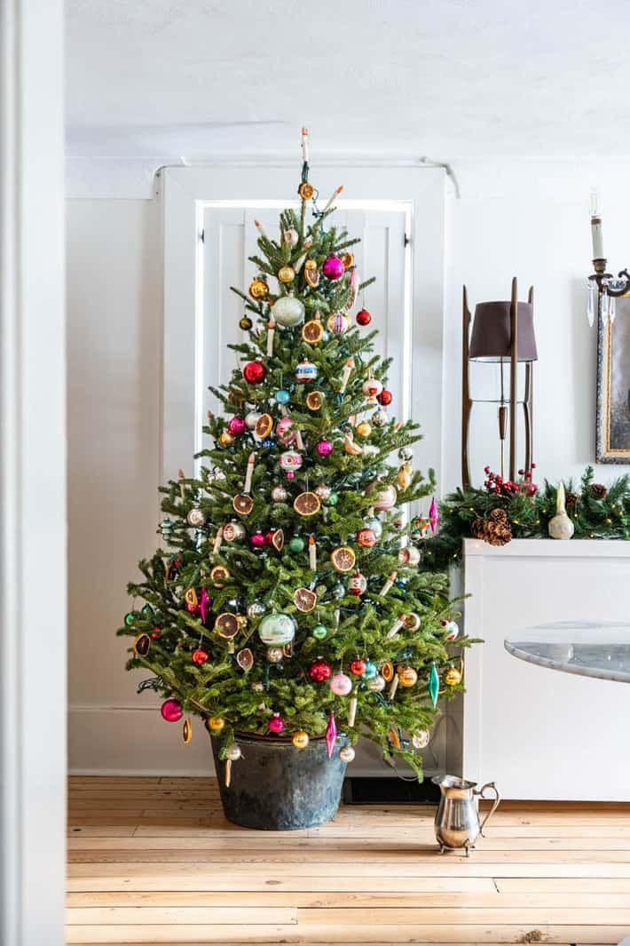 Christmas House Tour 2019. | Outdoor christmas decorations, Diy christmas tree, Christmas home
