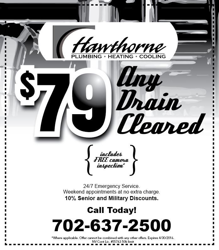 April Deal 79 Any Drain Cleared Military Discounts