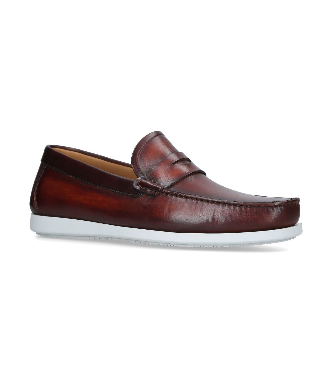24b436a9236 MAGNANNI LEATHER PENNY BOAT SHOES.  magnanni  shoes