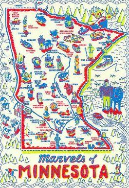 Minnesota Maps Pinteres - Road map of minnesota