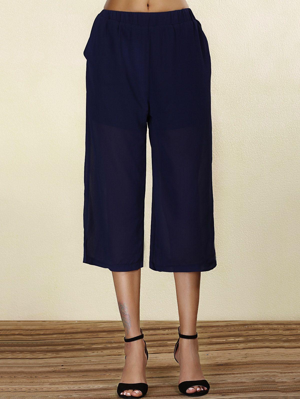 Stylish Women's Polka Dot Chiffon Pleated Skirt
