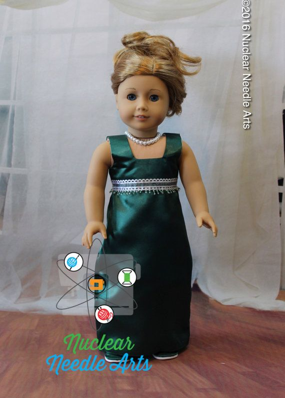 American Made Gown for your girl doll by NuclearNeedleArts on Etsy