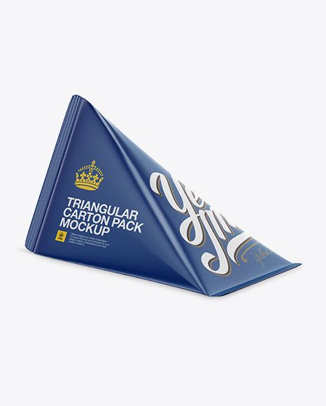 Download Triangular Carton Package Mockup Half Side View In Packaging Mockups On Yellow Images Object Mockups In 2021 Mockup Free Psd Mockup Free Download Mockup Psd