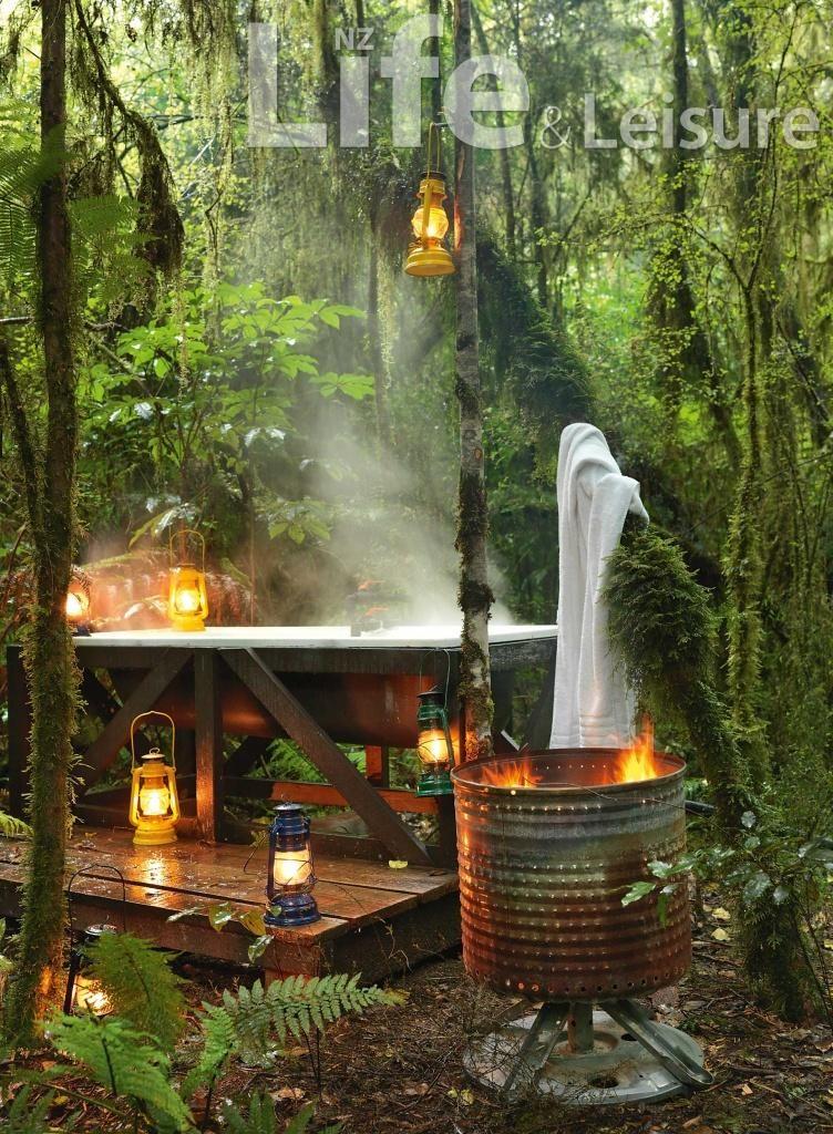 Hokitika bath in the bush Outdoor baths, Outdoor bathtub