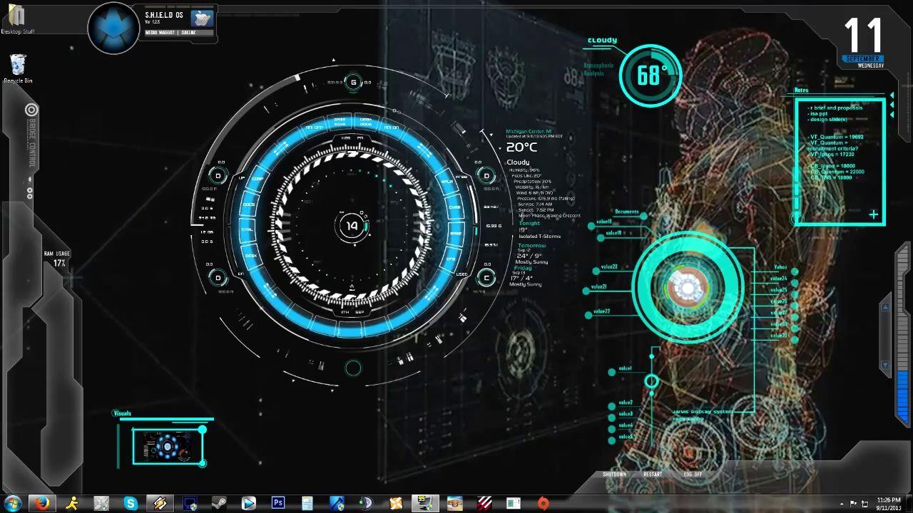Iron Man Jarvis Animated Wallpaper WallpaperSafari