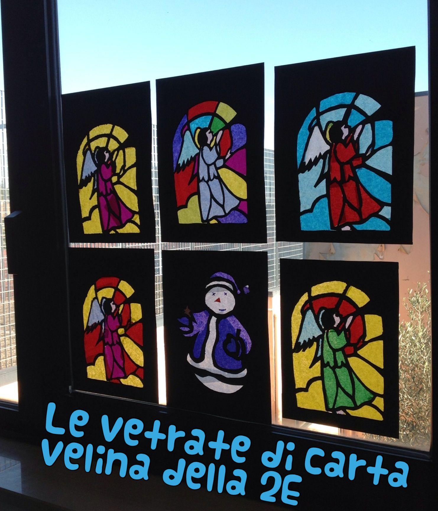 Vetrate Con Carta Velina.Le Vetrate Di Carta Velina Www Allegrarte Blogspot Com Art