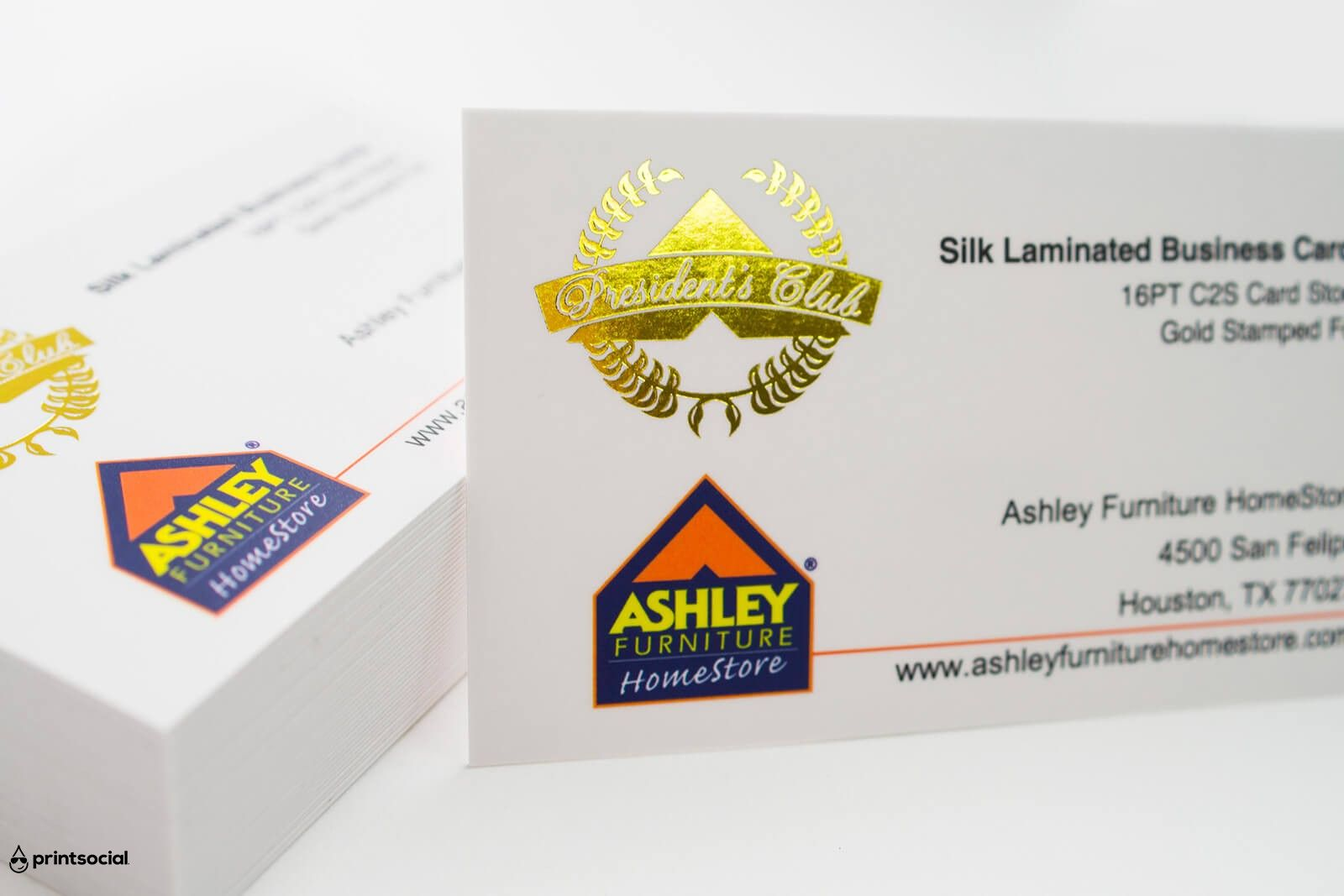 16PT silk laminated business card with gold Stamped Foil. | Business ...