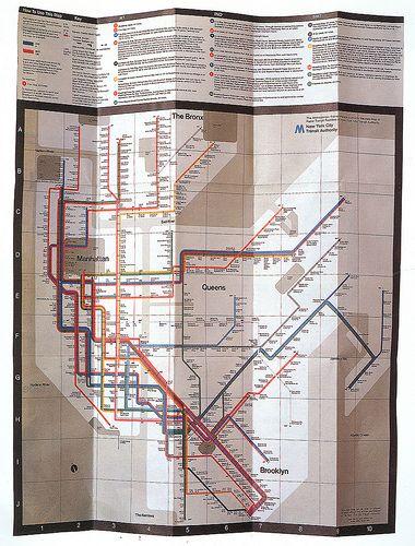 Subway Map Nyc 1970.Massimo Vignelli New York Subway Map 1970 Design Massimo