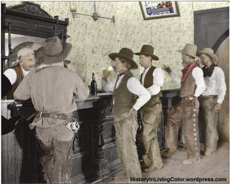 Old West In Color Colorized Pictures Of Cowboys From The