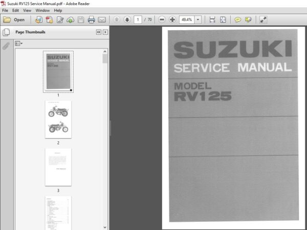 Suzuki Rv 125 Rv125 Workshop Manual Repair Manual 1972 1981 Pdf Download Repair Manuals Repair Manual