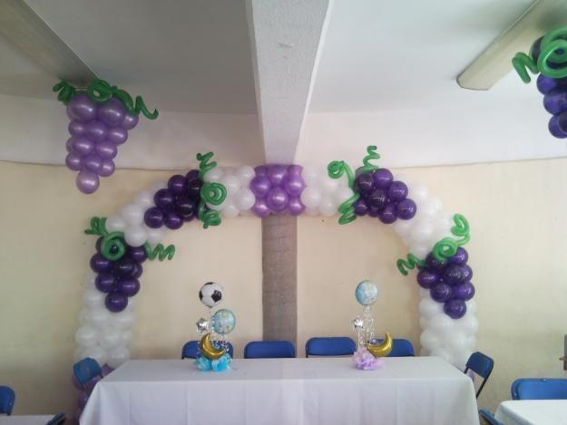 decoracion primera comunion nina bombas