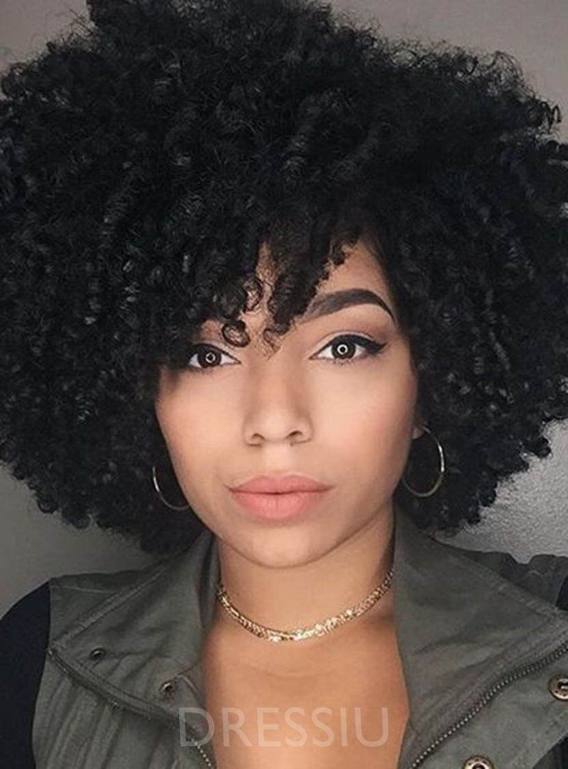 women synthetic hair capless curly 14 inches african