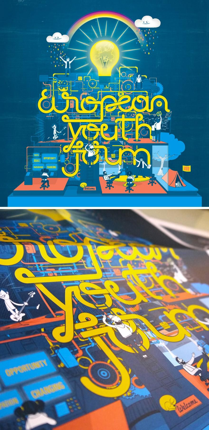 Poster design for youth - Design Inspiration European Youth Forum Poster