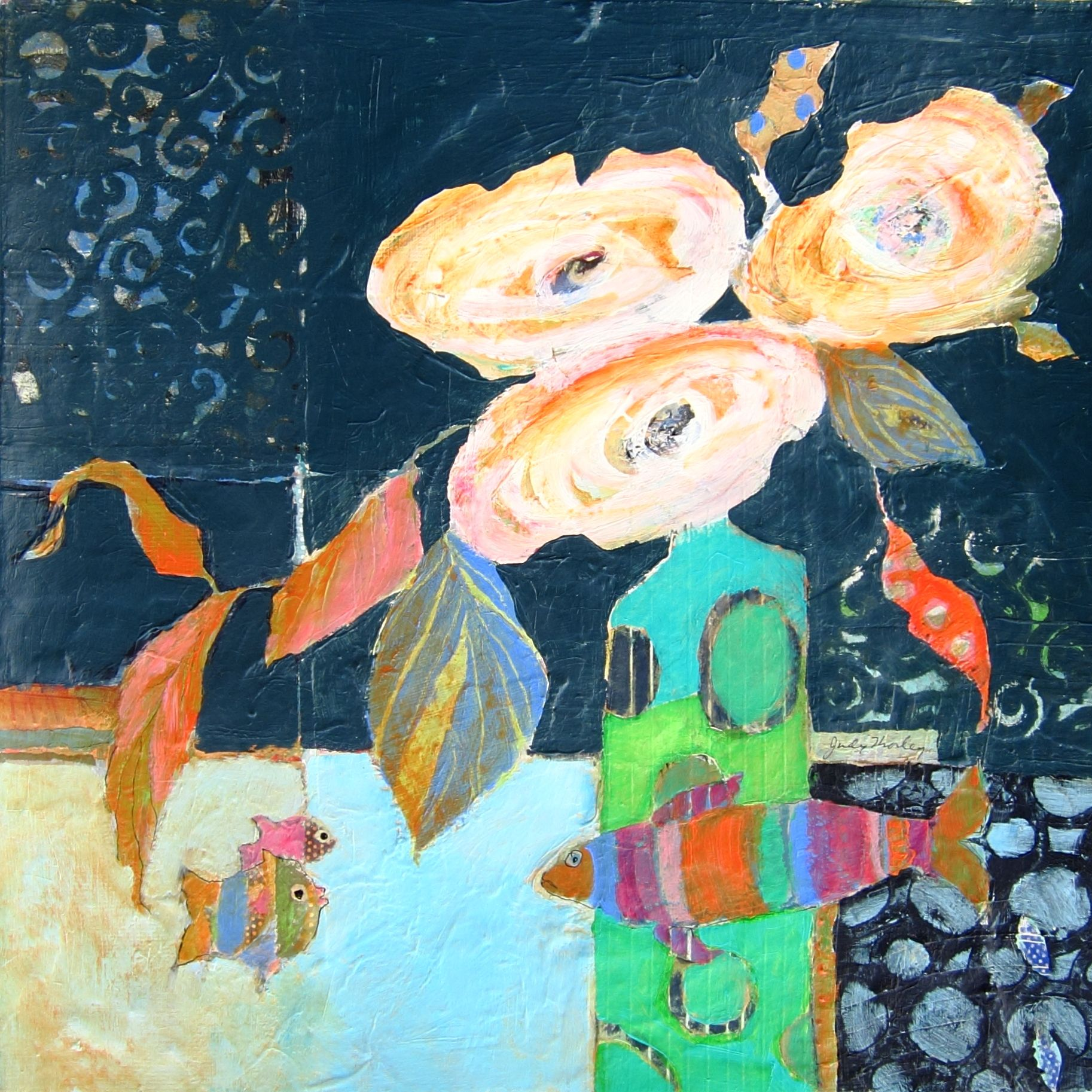 Of Life With Fish.judy Thorley Art