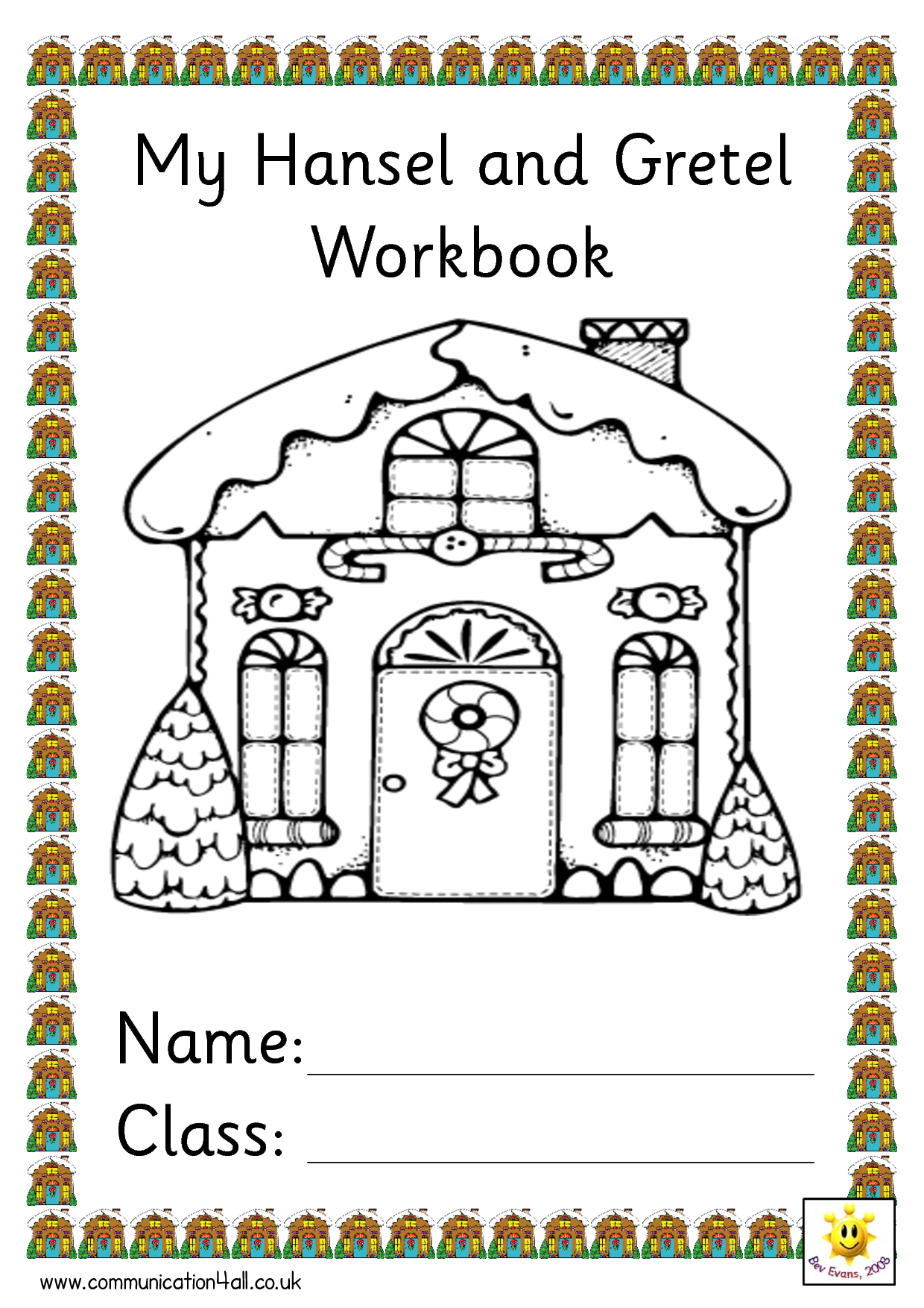 My Hansel And Gretel Workbook Name Class Fairy Tales Free Traditional Tales Fairy Tale Projects