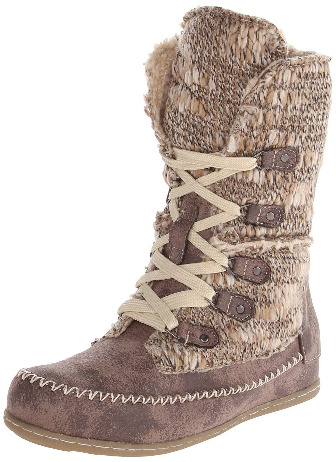 MUK LUKS Lily Women's Lace-up ... Midcalf Boots