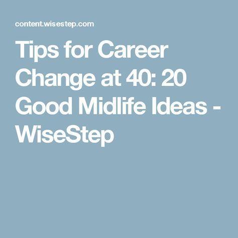 Best career change options over 40