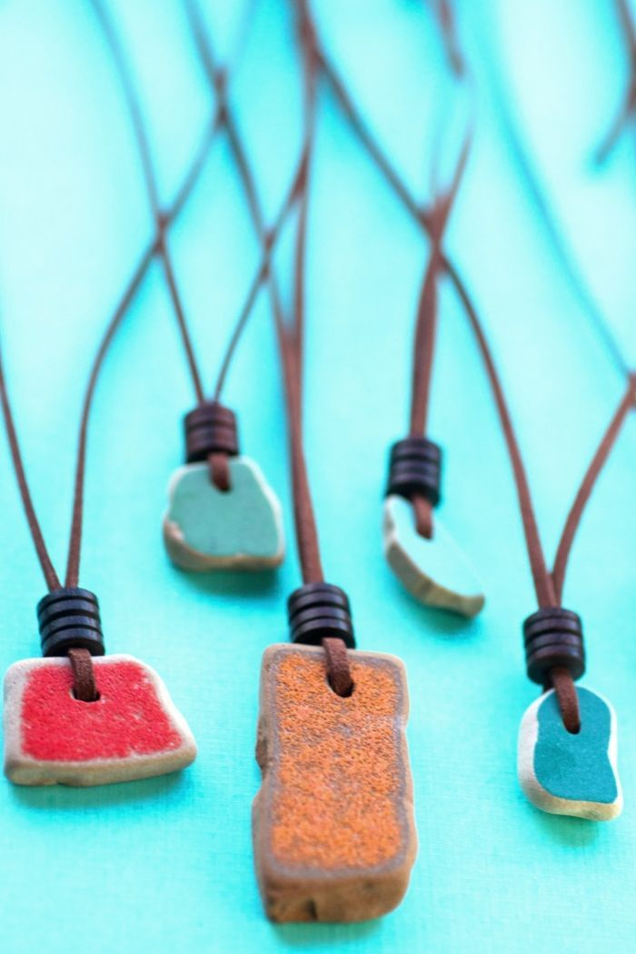 Photo of DIY Sea Pottery Necklace with Adjustable Sliding Cord | Intimate Weddings – Small Wedding Blog – DIY Wedding Ideas for Small and Intimate Weddings – Real Small Weddings