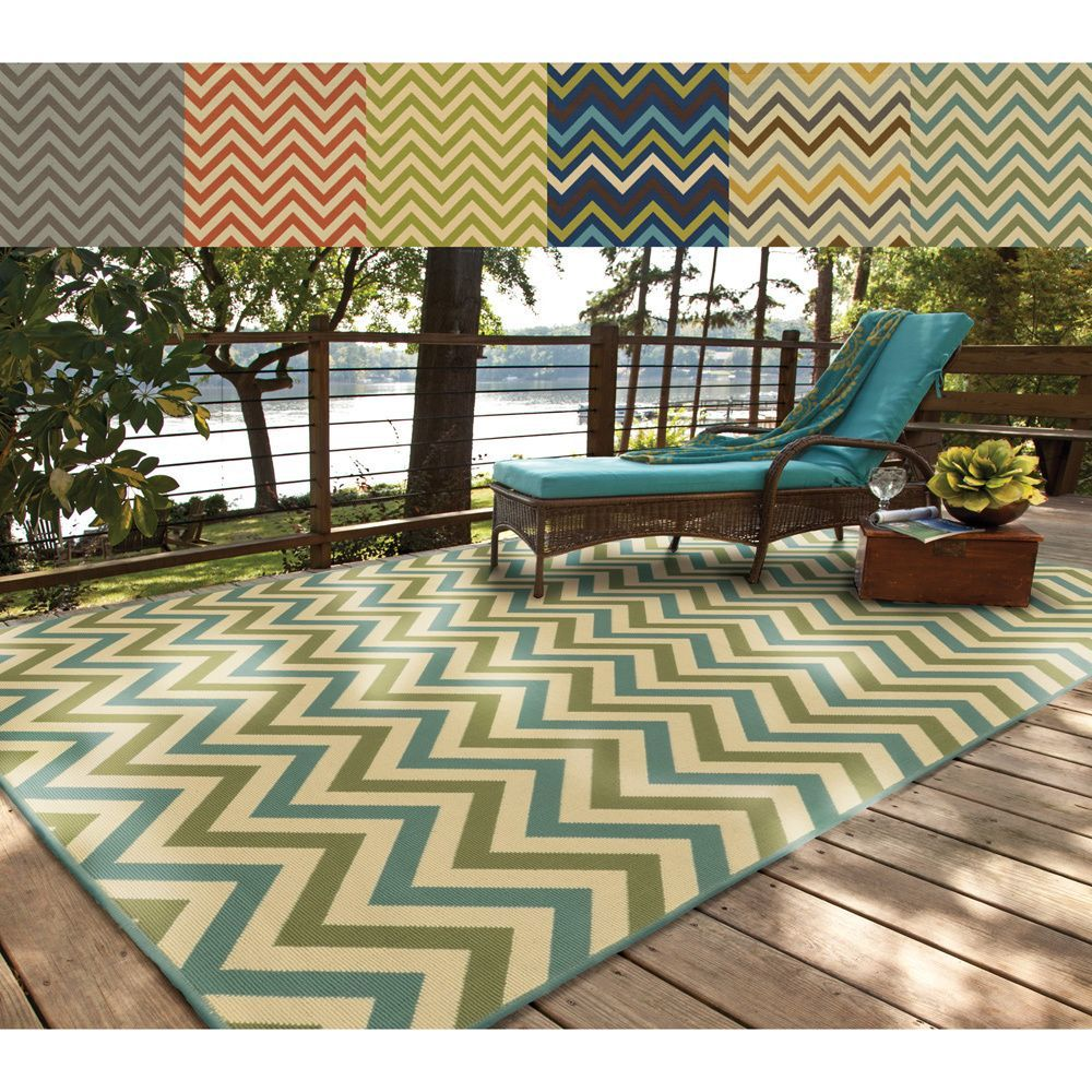 Indoor/ Outdoor Chevron Polypropylene Rug (8'6 x 13') | Overstock.com Shopping - Great Deals on Style Haven 7x9 - 10x14 Rugs