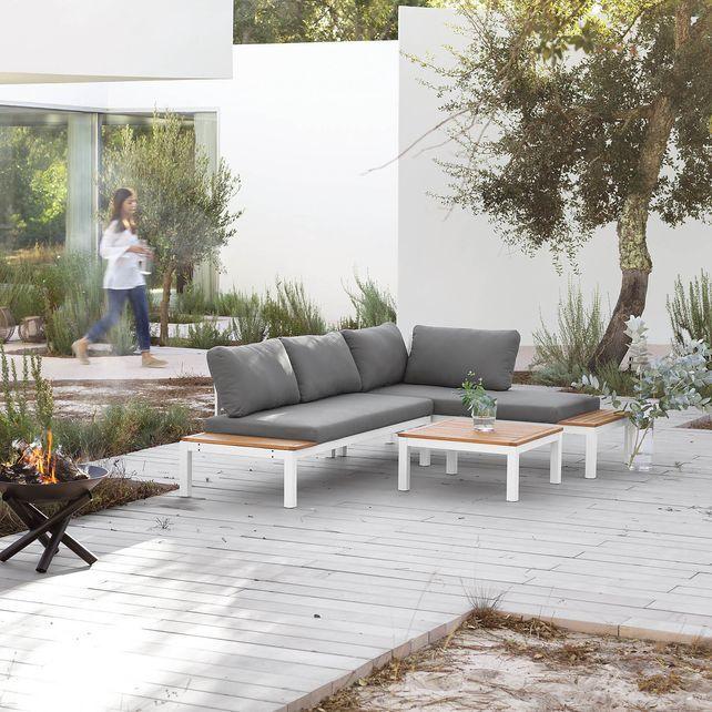 Loungeelement 2-Sitzer, FSC 100, L1,72m, weiß, weiss Garten