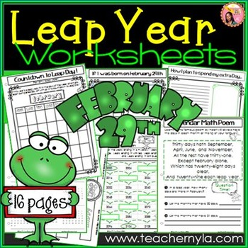Leap Day / Leap Year Activities and worksheets | Teaching ...