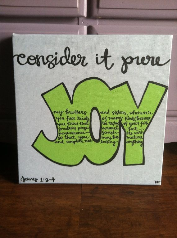 James 124 Bible Verse Art 12x12 Hand Painted By SouthernStrokes 3000 CanvasDiy
