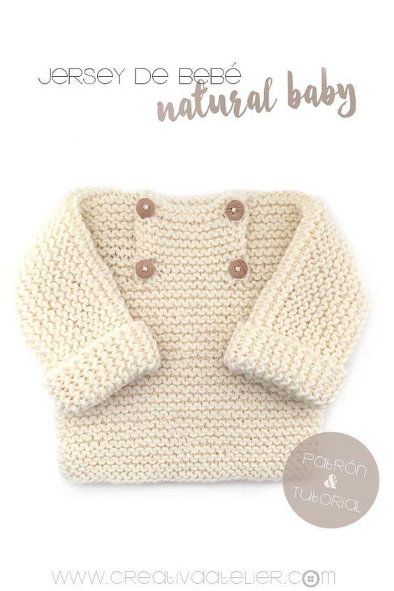 Jersey de bebé de punto bobo -Natural Baby | punto | Pinterest ...