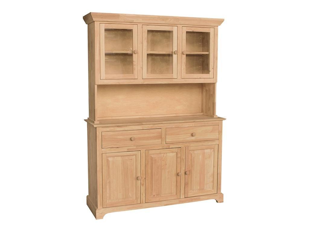 3 Door Hardwood Hutch 54 3