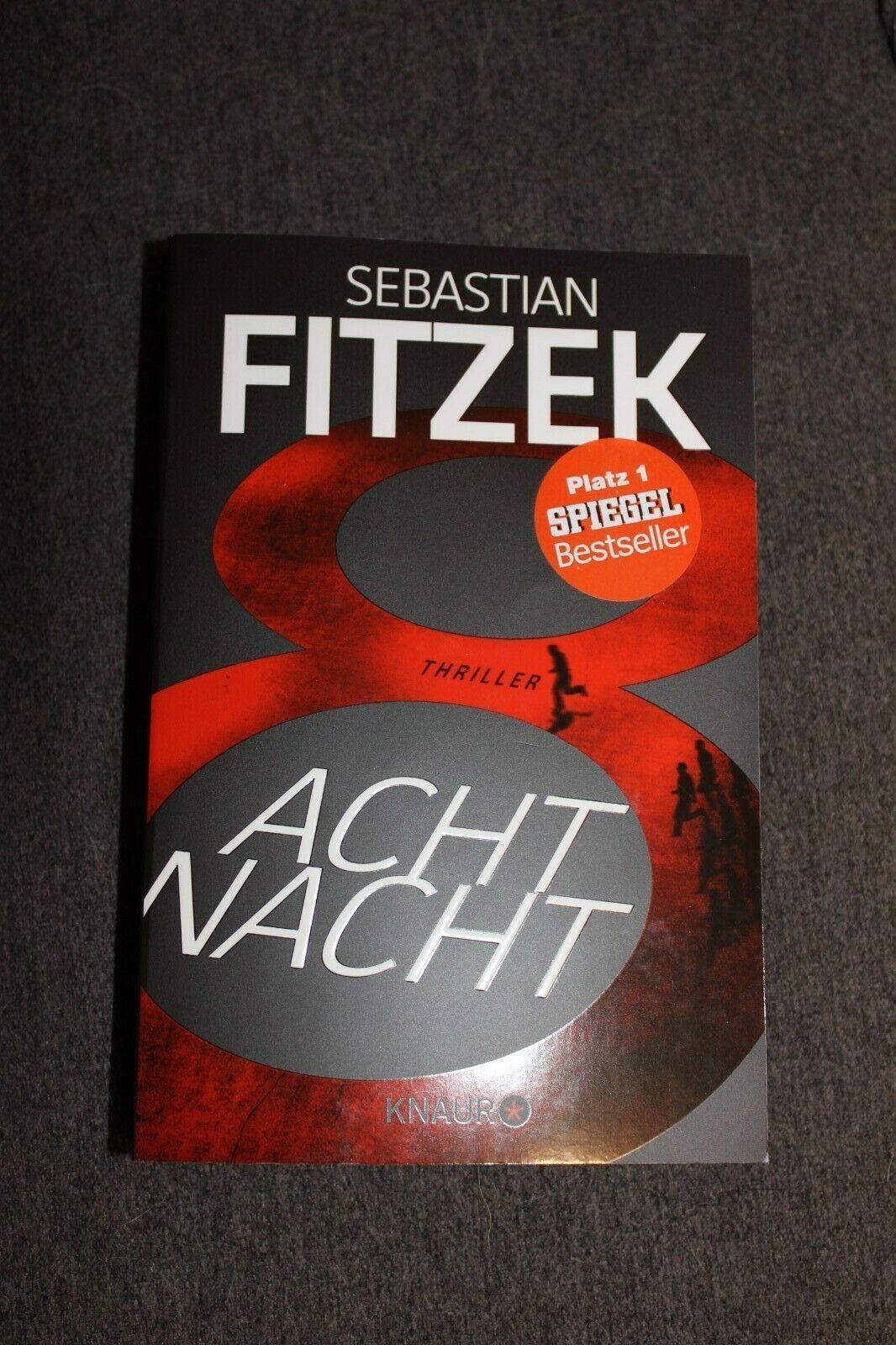 Achtnacht Sebastian Fitzek Taschenbuch Guter Zustand Taschenbuch Sebastian Fitzek Taschen Bucher