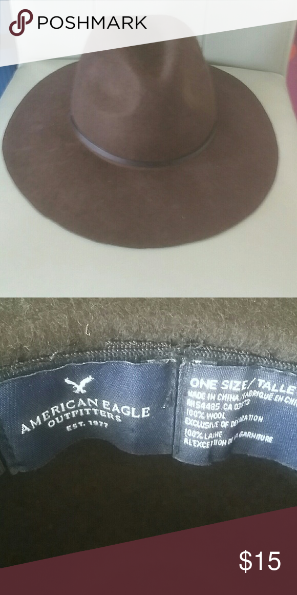 A&E  brown boho hat Brown felt hat from American Eagle never worn American Eagle Outfitters Accessories Hats