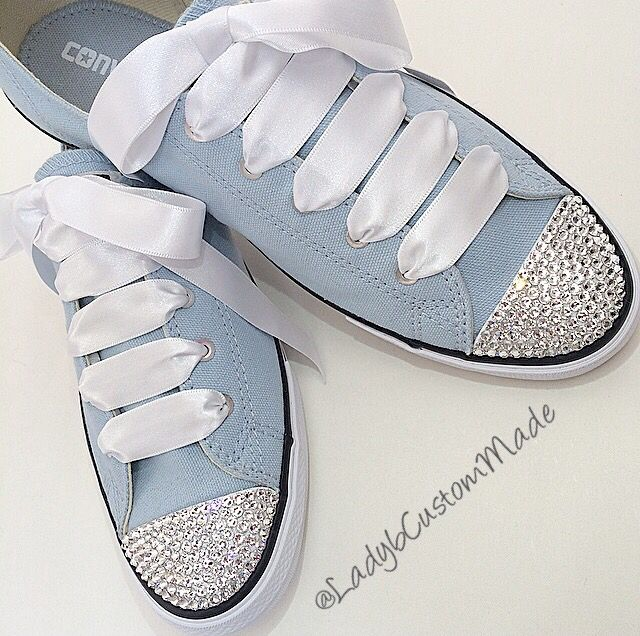 Bridesmaid Swarovski Encrusted Converse - Something Blue