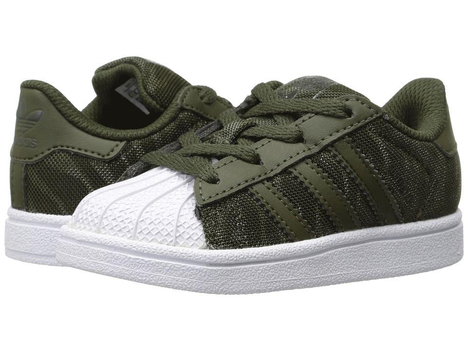 2aa419b4 adidas Superstar Glitter Mesh (Infant/Toddler) Originals Kids Boys Shoes  Black/Black/Chalk White