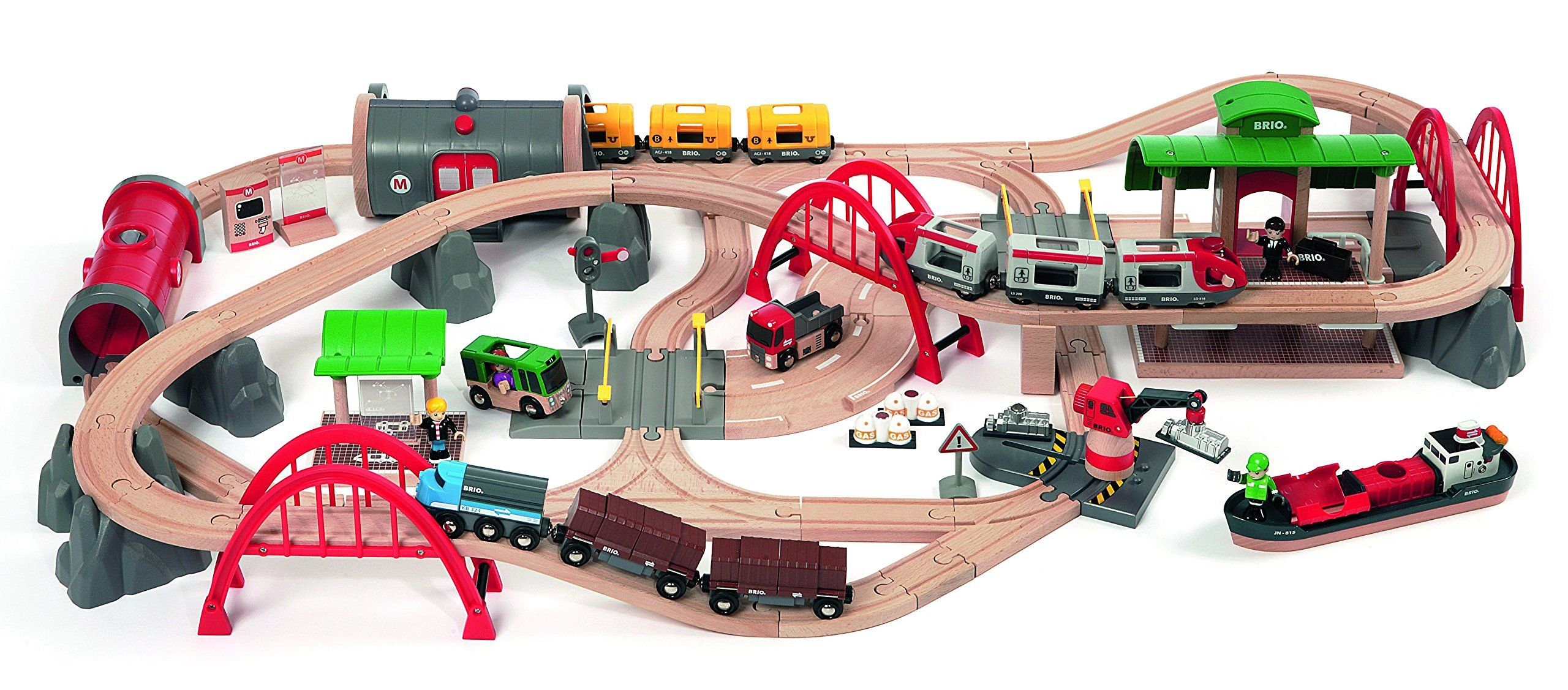 Brio Deluxe Railway Set | Thomas & Brio Wood Train | Pinterest