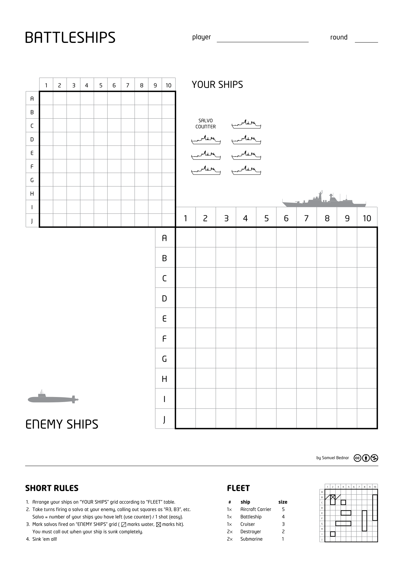 A Typical Pen And Paper Version Of The Game Showing The